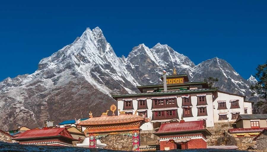 tengboche monastery helicopter tour package